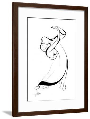 Dancing Couple IX-Alijan Alijanpour-Framed Art Print