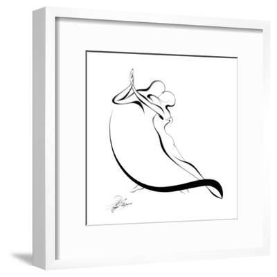 Dancing Couple VI-Alijan Alijanpour-Framed Art Print