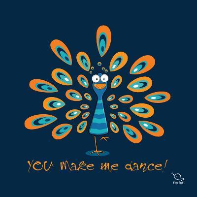 Dancing Feet- Blue Fish-Art Print