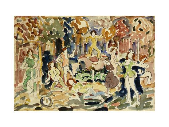Dancing Figures-Maurice Brazil Prendergast-Giclee Print