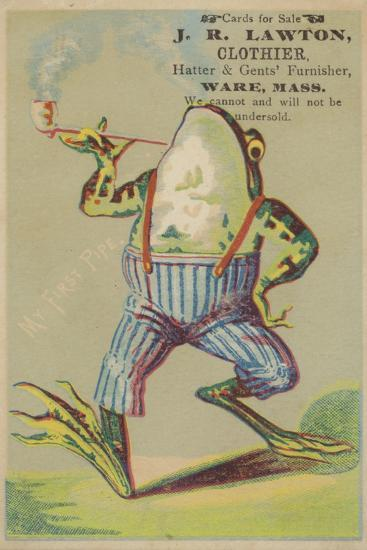 Dancing Frog with Pipe--Giclee Print