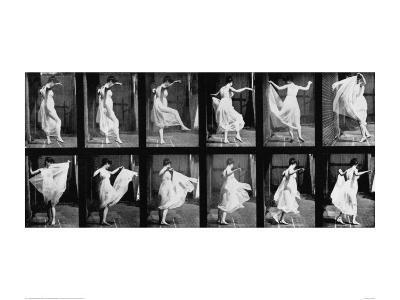 Dancing Girl, 1887-Eadweard Muybridge-Giclee Print