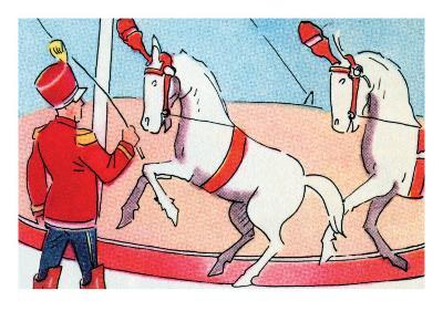 Dancing Horses-Julia Letheld Hahn-Art Print