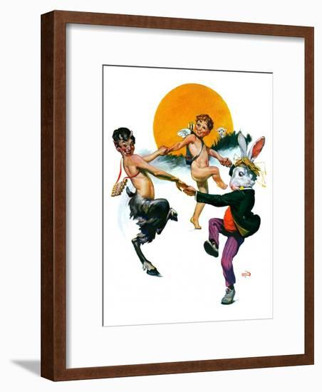 """""""Dancing in Spring,""""March 16, 1929-Sam Brown-Framed Giclee Print"""