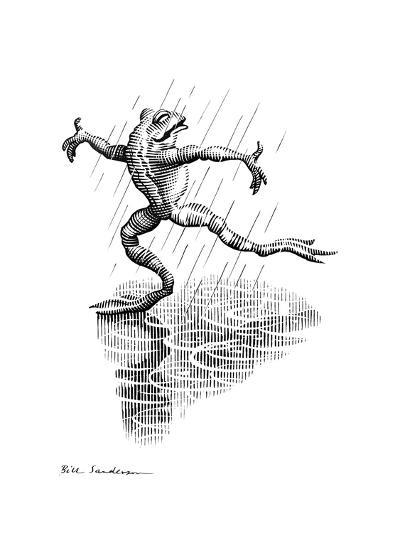 Dancing In the Rain, Conceptual Artwork-Bill Sanderson-Giclee Print