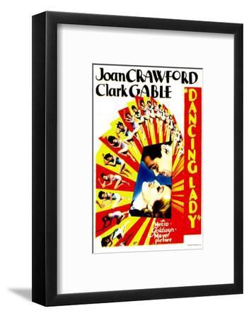 Dancing Lady, Clark Gable, Joan Crawford on Midget Window Card, 1933