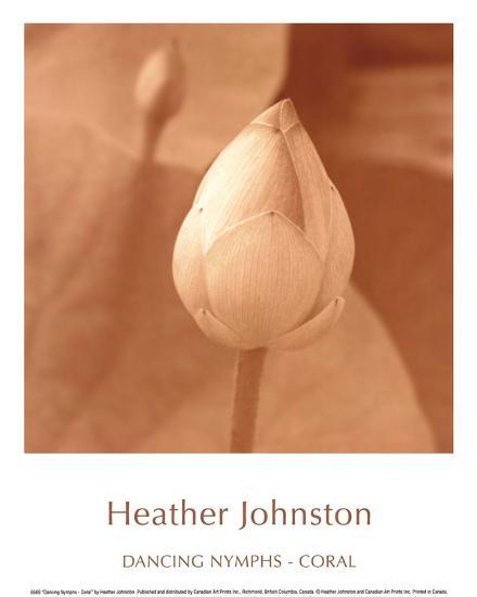 Dancing Nymphs -Coral-Heather Johnston-Art Print