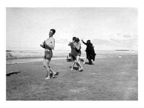 Dancing on Beach-Underwood-Giclee Print