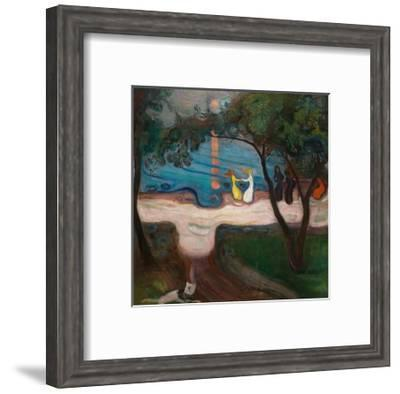 Dancing on the Shore-Edvard Munch-Framed Premium Giclee Print
