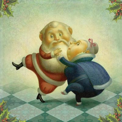 Dancing Santa and Mrs.-Dan Craig-Giclee Print