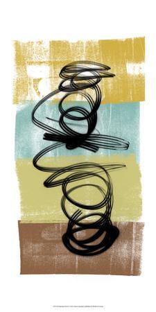 Dancing Swirl I-Alonzo Saunders-Art Print
