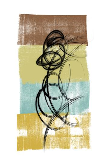 Dancing Swirl II-Alonzo Saunders-Art Print