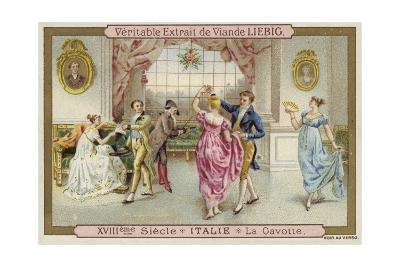 Dancing the Gavotte, Italy, 18th Century--Giclee Print