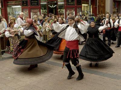 Dancing the Jota During the Fiesta Del Pilar, Zaragoza, Aragon, Spain-Rob Cousins-Photographic Print