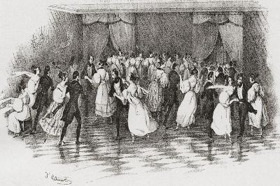 Dancing the Polka at a Ball in 1830. from Illustrierte Sittengeschichte Vom Mittelalter Bis Zur Geg--Giclee Print