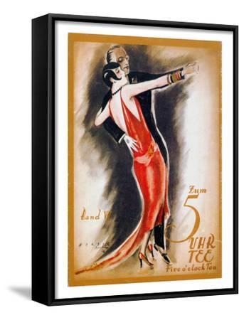 Dancing The Tango--Framed Art Print