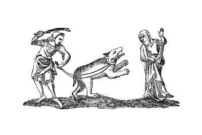 Dancing to a Bear--Giclee Print