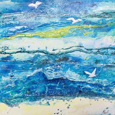 Dancing with the Waves-Margaret Coxall-Giclee Print