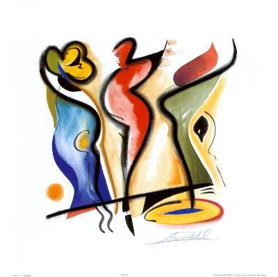 Dancing-Alfred Gockel-Art Print