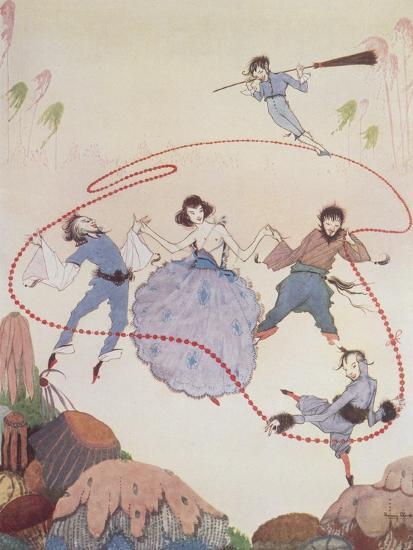 Dancing-Harry Clarke-Giclee Print