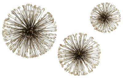 Dandelion Metal Wall Decor Trio *