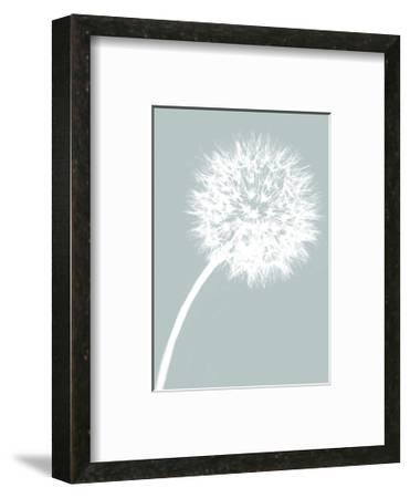 Dandelion Tilt (blue)-Jenny Kraft-Framed Art Print