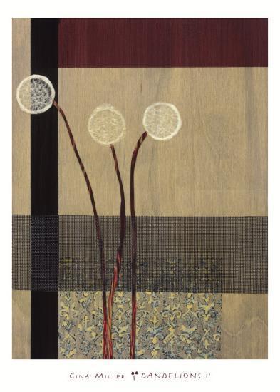 Dandelions II-Gina Miller-Art Print
