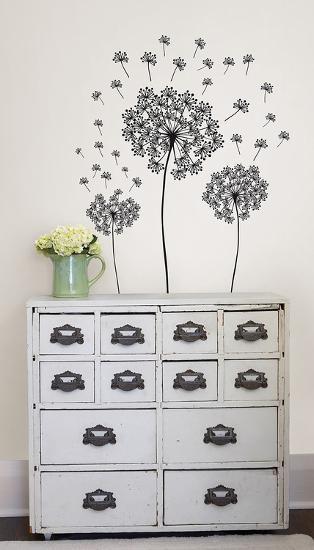 Dandelions Wall Art Kit--Wall Decal