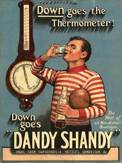 Dandy Shandy Sarsaparilla Rugby Weather, UK, 1920--Giclee Print