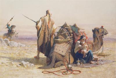 Danger in the Desert, 1867-Carl Haag-Giclee Print