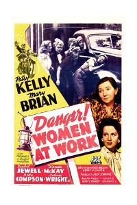 Danger! Women at Work, US poster, Patsy Kelly, Mary Brian, 1943