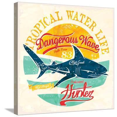 Dangerous Wave Hunter--Stretched Canvas Print