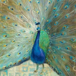 Blue Peacock on Gold by Danhui Nai