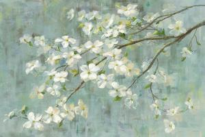 Dogwood in Spring on Blue by Danhui Nai