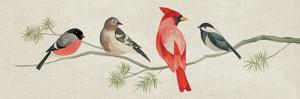 Festive Birds Panel I Linen by Danhui Nai