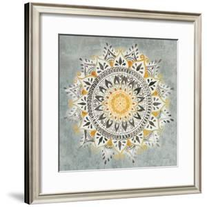 Mandala Delight I Yellow Grey by Danhui Nai