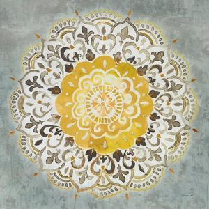 Mandala Delight IV Yellow Grey by Danhui Nai
