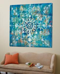 Mandala in Blue I Sq by Danhui Nai