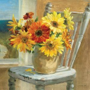Sunflowers by the Sea Crop by Danhui Nai