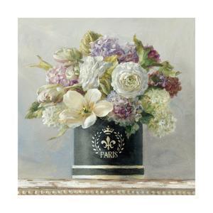 Tulips in Black and White Hatbox by Danhui Nai