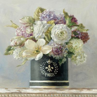 Tulips in Black and White Hatbox