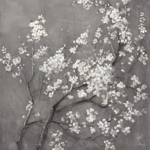 White Cherry Blossoms I on Grey Crop by Danhui Nai