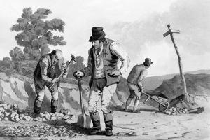 Road Menders, 1812 by Daniel And Robert Havell