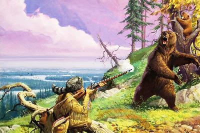 Daniel Boone Blazes the Wilderness Trail-Severino Baraldi-Giclee Print