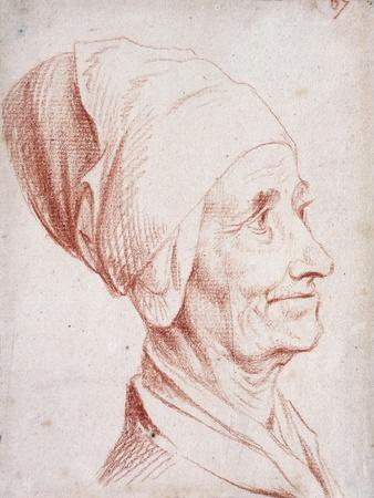 Portrait of a Man Said to Be Voltaire, Small Bust-Length, in Profile