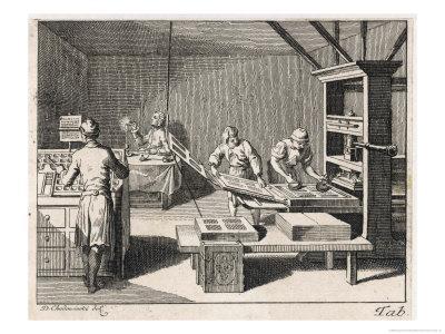 Scene in a Printing Office