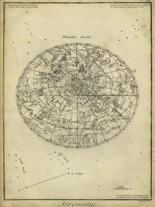Antique Astronomy Chart I by Daniel Diderot