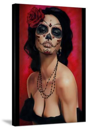 Isabella Muerta by Daniel Esparza Canvas Giclee Art Day of the Dead Sugar Skull