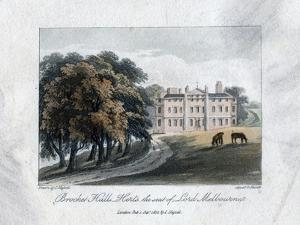 Brocket Hall, Herts, the Seat of Lord Melbourne, 1817 by Daniel Havell