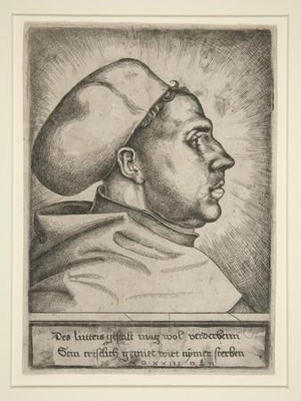 Martin Luther, 1523 by Daniel Hopfer